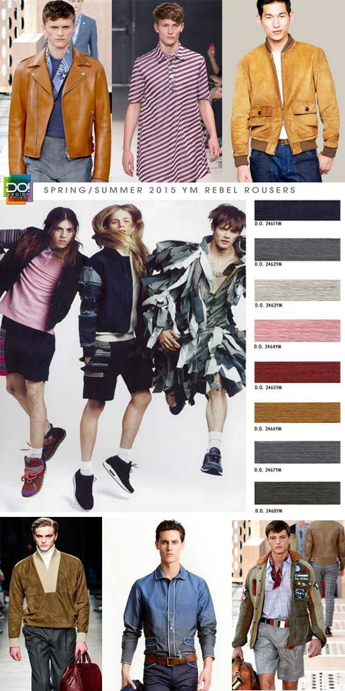 Spring Summer 2015, young men's contemporary color trend report, rebel rousers