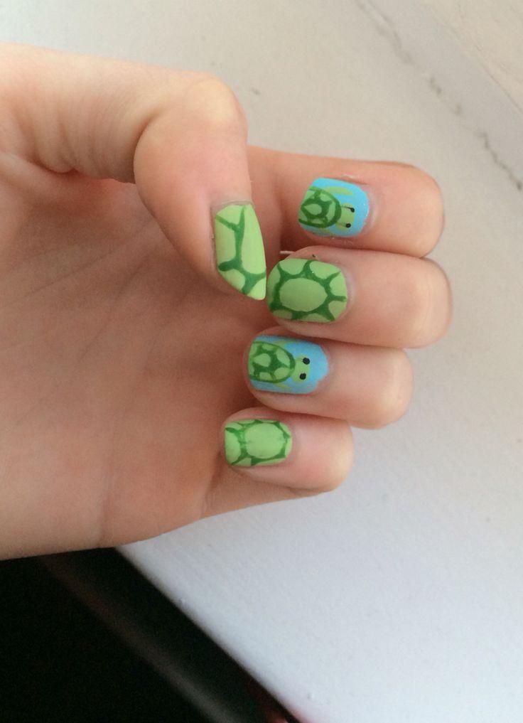 Nail art schildpad