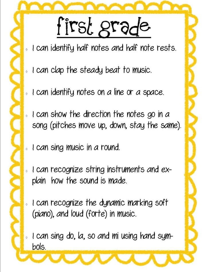 "Music Learning Targets, ""I Can..."" statements"