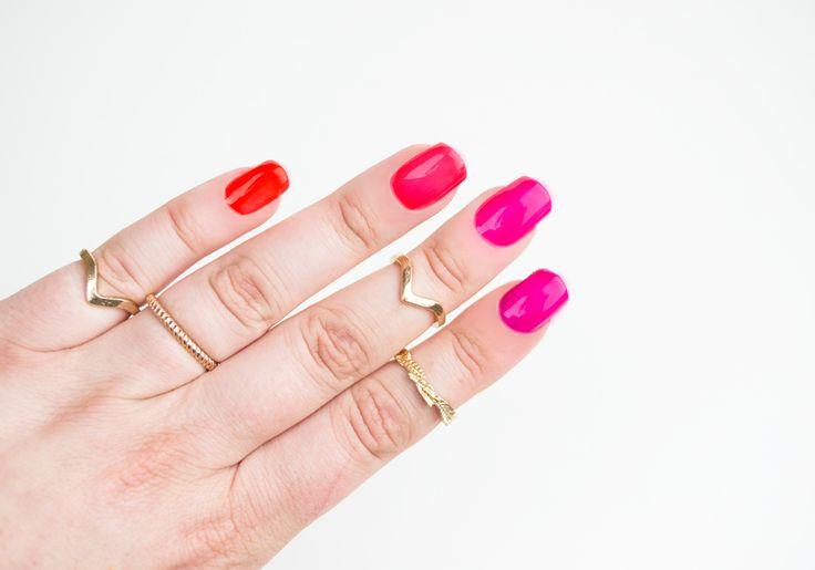 IsaDora ♥ Jelly Pop + White Base http://beautyboulevard.se/diik Nail Design Nails Naglar Nageldesign Swatch Inspiration Färgglad Colorful Pink Purple Red