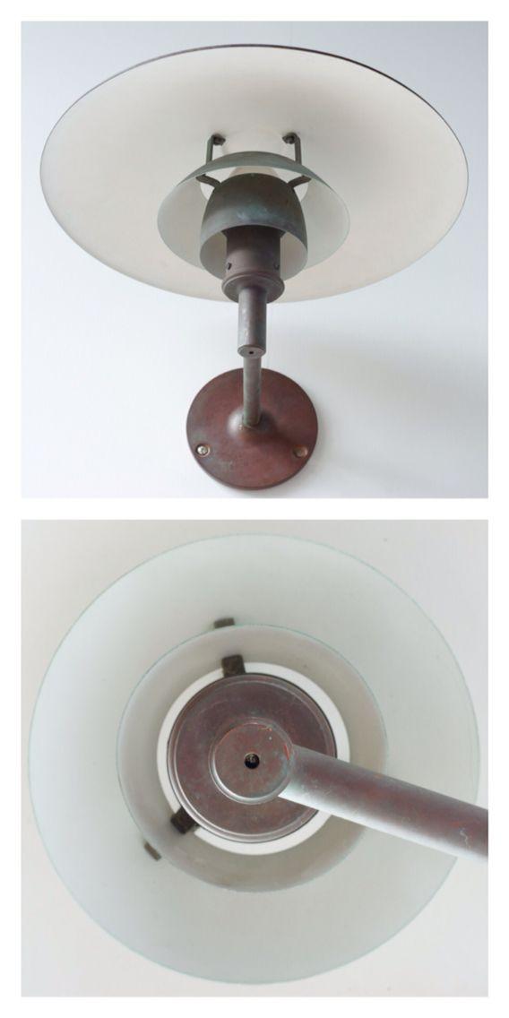 Poul Henningsen Copper Outdoor Light, Model 44/3, Made by Louis Poulsen, c.1927.