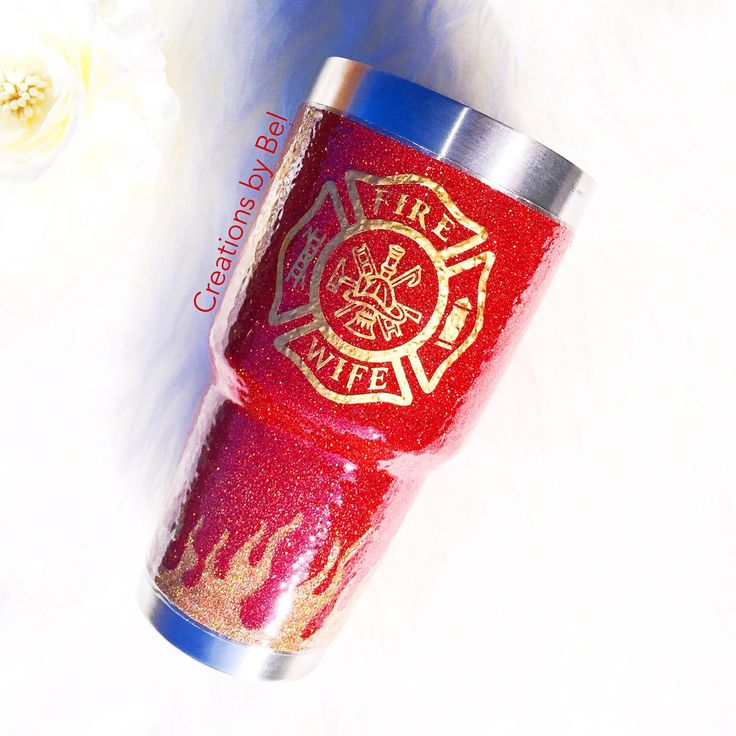 READY TO SHIP Fire Wife / Ozark Trail Personalized Tumbler/ Glitter Tumbler / Stainless Steel Tumbler / Ozark Trail 30oz  / Ozark Trail Tumb by creationsbybel on Etsy https://www.etsy.com/listing/483875045/ready-to-ship-fire-wife-ozark-trail