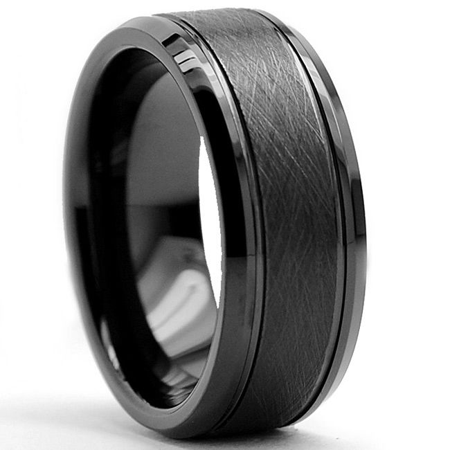 This Masculine Tungsten Carbide Ring Is Durable Enough For Everyday Wear And Scratch Resistant Mens Wedding