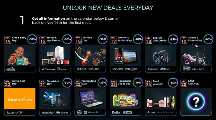 Deals and Discounts Offered by Jumia Kenya During Black Friday in Kenya