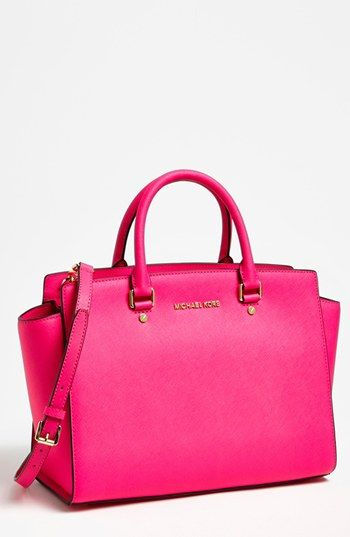MICHAEL Michael Kors Selma - Large Leather Satchel available at #Nordstrom