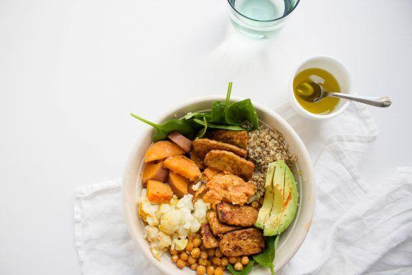 Proteïne+bowl+met+gemarineerde+tempeh