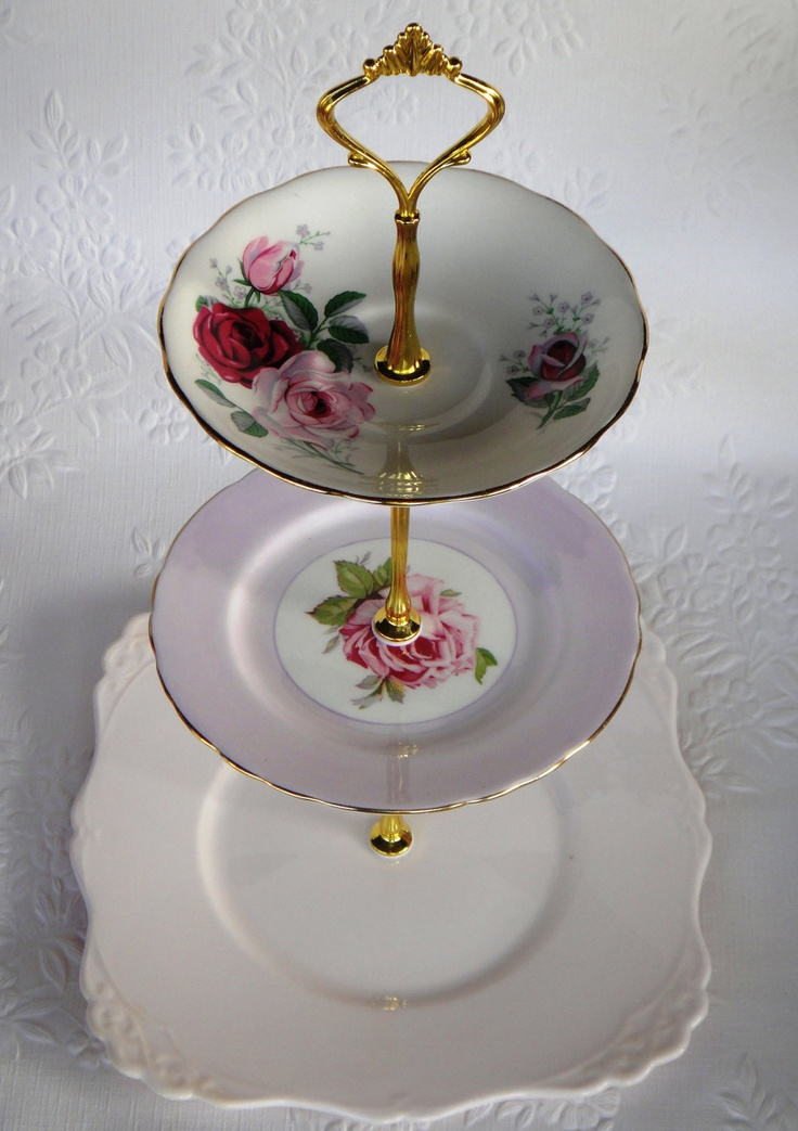 diy 3 tier wedding cake stand how to make a vintage 3 tier cup cake plate wedding stand 13603