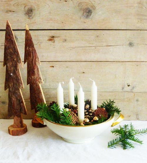 diy adventskranz in suppensch ssel weihnachten pinterest selber machen. Black Bedroom Furniture Sets. Home Design Ideas