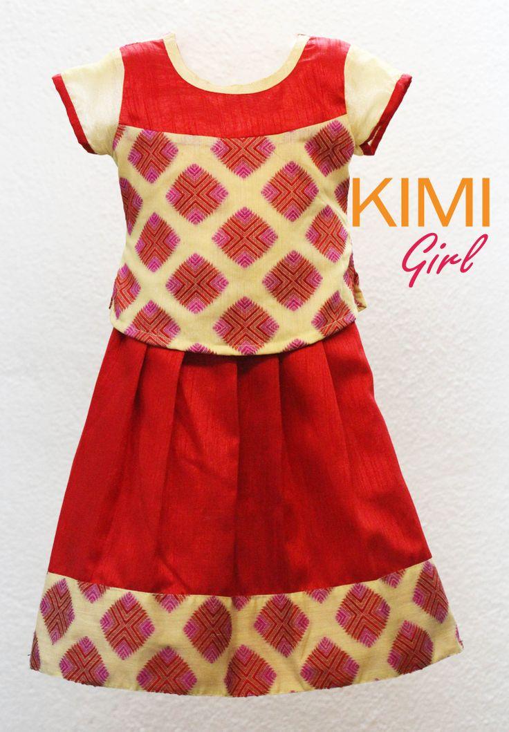 kids choli pattu pavadai girls silk traditional designer ...