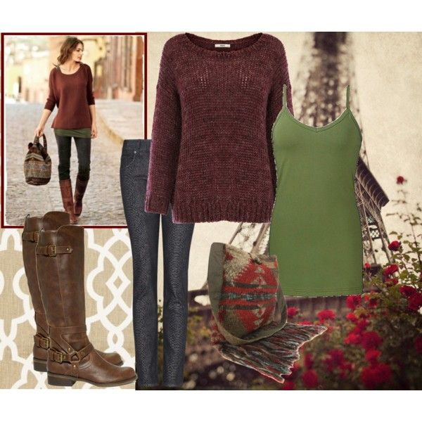 Fall fashion, love the colors together.