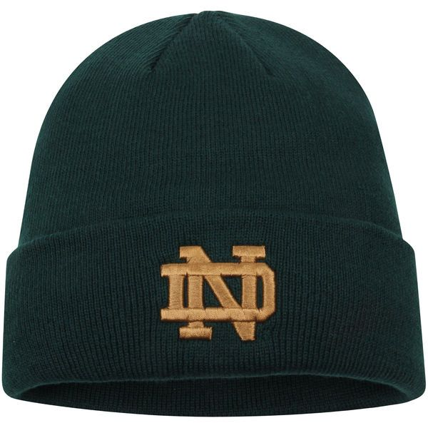 Notre Dame Fighting Irish Top of the World Simple Cuffed Knit Hat - Green