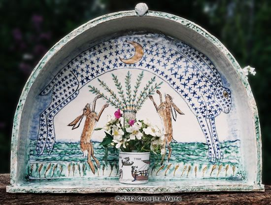 Shrine for the Hares. Georgina Warne, ceramic