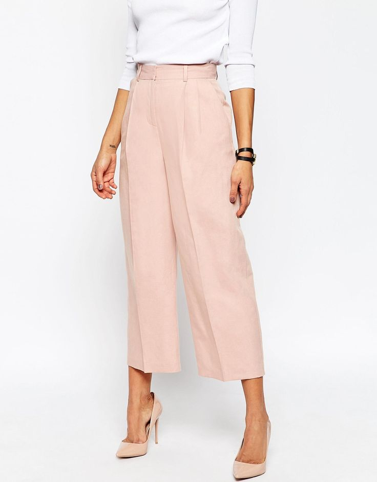 ASOS Premium - Jupe culotte de tailleur en lin