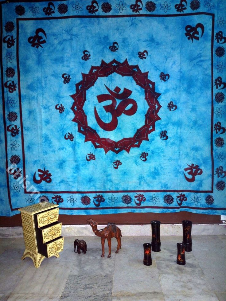 Old Om Bedspread Bedding Bedsheet Zen Traditional Tapestry Wall Hanging Home Decor blue by BhismaClothings on Etsy https://www.etsy.com/listing/200901835/old-om-bedspread-bedding-bedsheet-zen