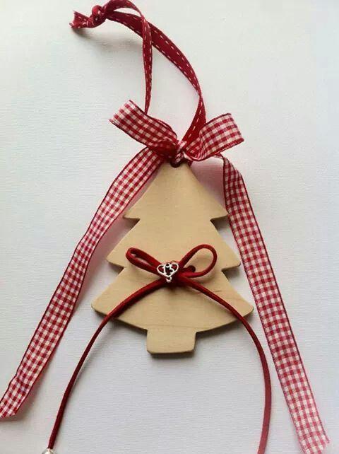 Handmade Wooden Christmas charm 10€ By KIKOmania