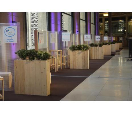 Jardini re eco mobilier bois de palette recycl mobilier - Jardiniere bois palette ...
