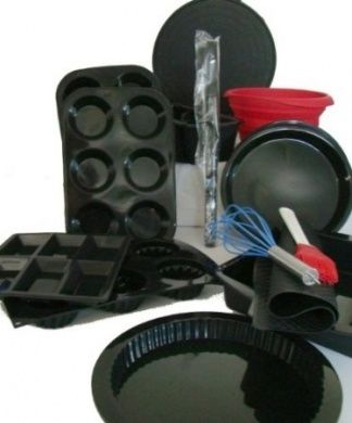 WellBake Professional 15 Piece Chef's Ultimate Gourmet Gift Set. Superior Quality Non-Stick Silicone Bakeware + 10 Year Guarantee