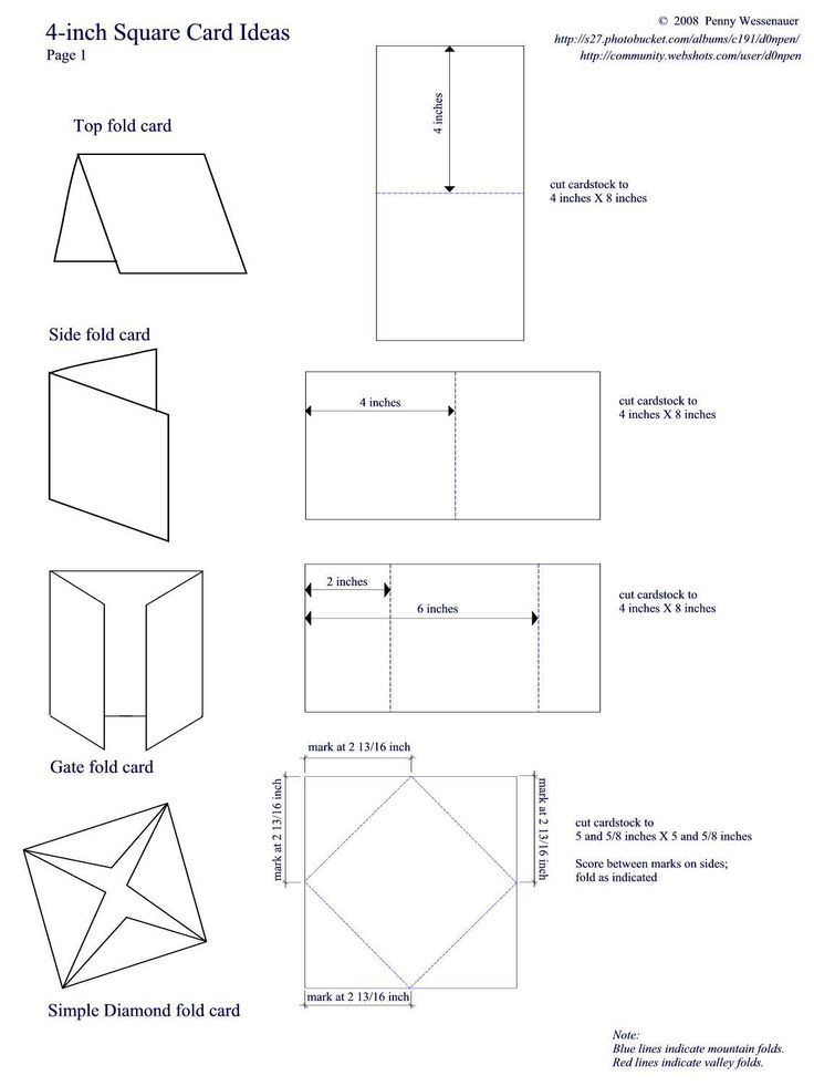 folded cards template