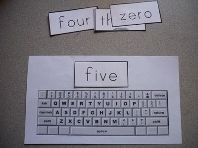 Sight Word Practice - Typing .. Free download of both the keyboard and the words cards
