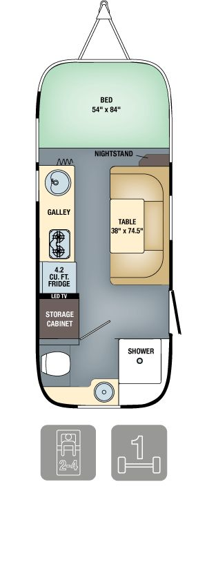 2016 Airstream Sport Floorplans Specs Bambi 22 FB This Is The Trailer Floor Plan We Stayed In At Vintages For Our Anniversary