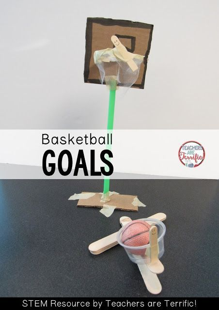 STEM Challenge! Build a basketball goal and a free throw shooter! Check the blog post for more!