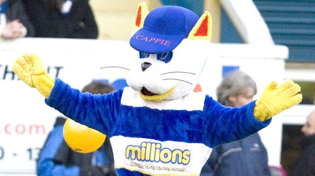 Grizzly Scenes As Greenock Morton's 'Cappie The Cat' Mascot ...