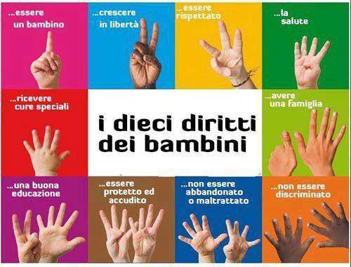 I 10 diritti dei bambini.