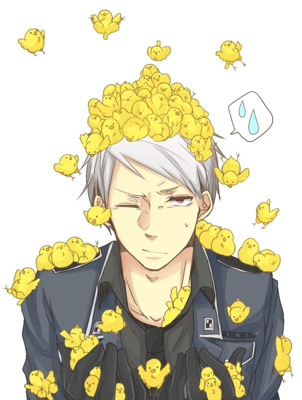 Day 2, Least favorite character: I know I'm going to lose followers for this but I don't like Prussia at all. Maybe it's his big attitude but he just makes me kinda mad.                                                                                                                                                      More