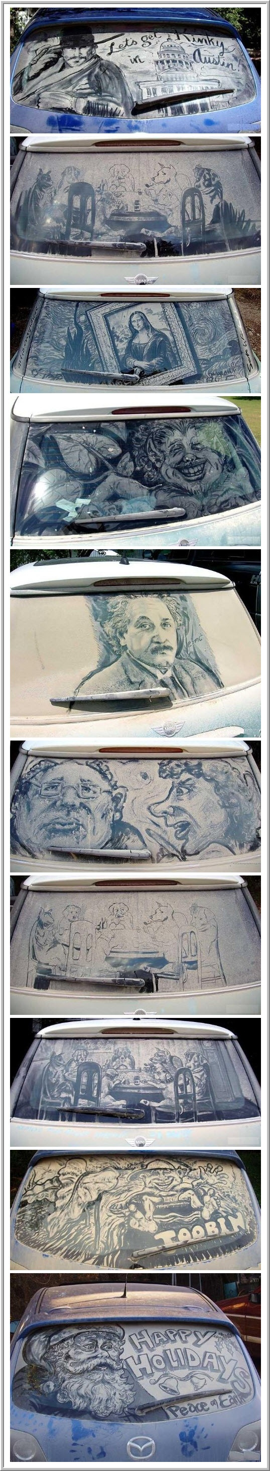 Best DIRTY CAR ART Images On Pinterest Car Artworks And - Scott wade makes wonderful art dusty car windows