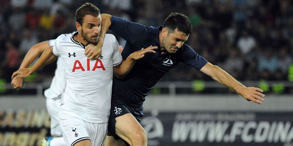 Highlights Europa League: Tottenham 0-5 Dinamo Tbilisi - http://www.technologyka.com/sports/football/highlights-europa-league-tottenham-0-5-dinamo-tbilisi.php/7773725 -    Soldado (left) contributed two goals © AFP   technologyka   –  Tottenham   crushes host Dinamo Tbilisi  5-0 in the first leg play-off Europa League 2013/14 .  Tottenham goals in Dinamo Arena, Tbilisi, Friday (23/8), scored by Andros Townsend   (12 '), Paulinho   (44′),...
