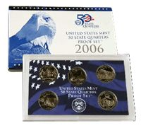 2006-S 5 Coin Statehood Quarters Proof Set