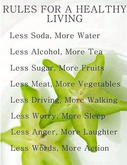 Rules For Healthy Living for the new year! :)