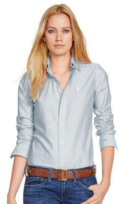 Custom-Fit Oxford Shirt - Personalisation Long Sleeve - Ralph Lauren UK
