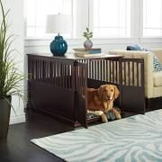 Wooden Furniture Extra Large Pet Crate Espresso Solid Wood End ...