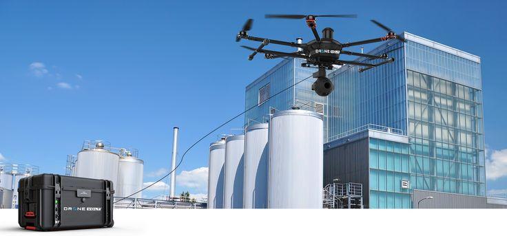 """Коллекцию """"привязных"""" дронов, которые получают питание с земли по проводу пополнит профессиональный Z18 UF (Unlimited Flight), разработанный французской компанией DRONE VOLT."""