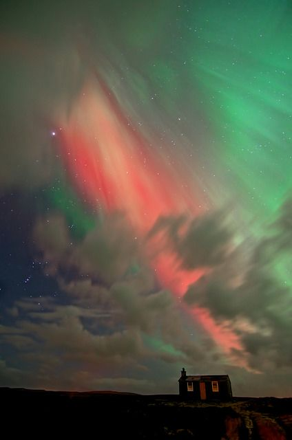 Aurora borealis, Isle of Lewis