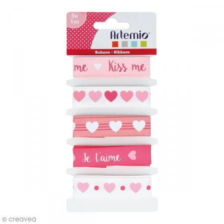 Cintas Artemio Kiss me - 1,5 cm x 1 m - 5 uds - Fotografía n°1