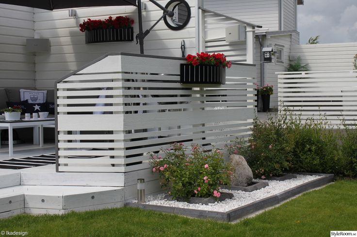 Trädgård,blomrabatt,altan,utemböler,utemöbler Vita Altan Inspiration Pinterest Villor