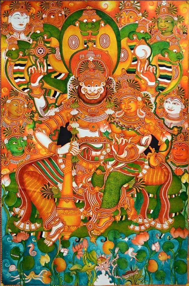 Lakshmi Narasimha, kerala mural style