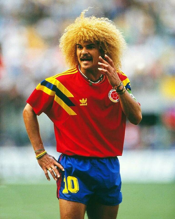d74eb8a670a Soccer Country Jersey. camisetas seleccion colombia 2013-2014 segunda  equipacion httpwww Carlos Valderrama of Colombia in action at the 1990  World Cup ...