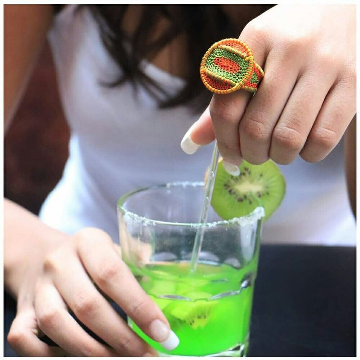 Summer Ring #jewellery #handmade #green #orange #ring #designer #chic #stylish #statement #summer #colours