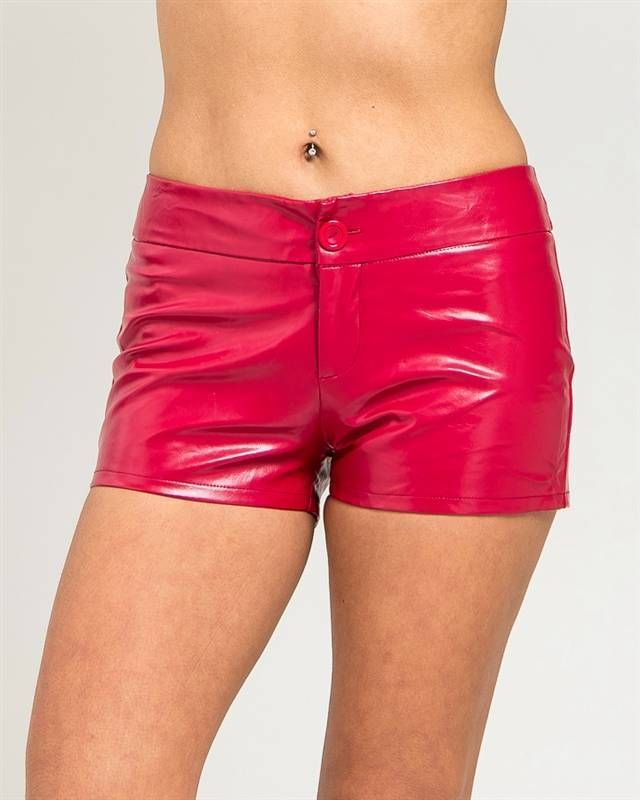 Sexy Red Hot Poly Pvc Wet Look Short Shorts Anout the Booty shorts Punk New PUNK #colorswatch #MiniShortShorts