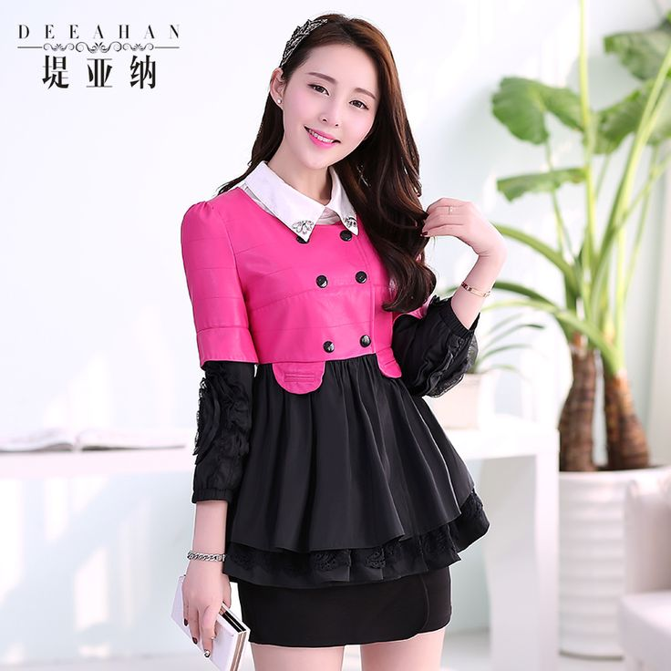 $69.13 - 2014 spring women outerwear fashion lace patchwork cloak outerwear short dress disk flowers three quarter sleeve top