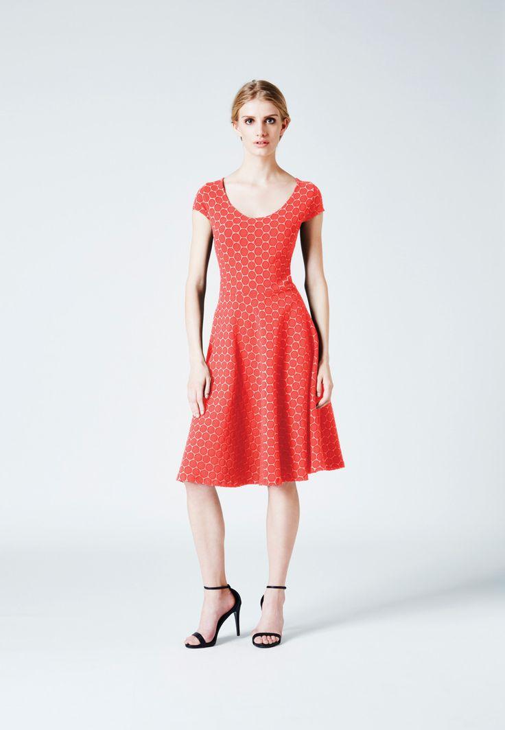 Circle Dress in Watermelon Cameo Cloth