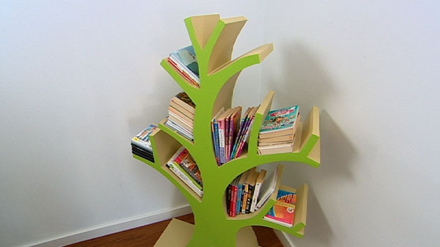 How to make a bookcase tree style better homes and Yahoo better homes and gardens