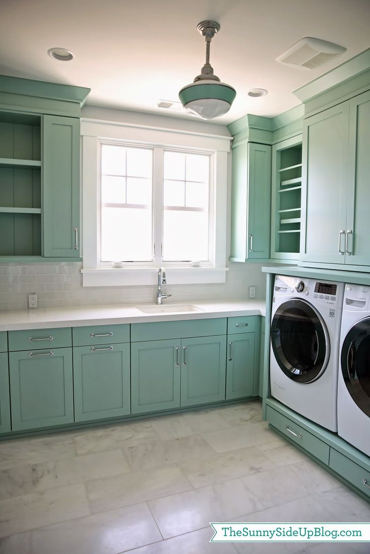 Upstairs Laundry Room; BM Wythe Blue.