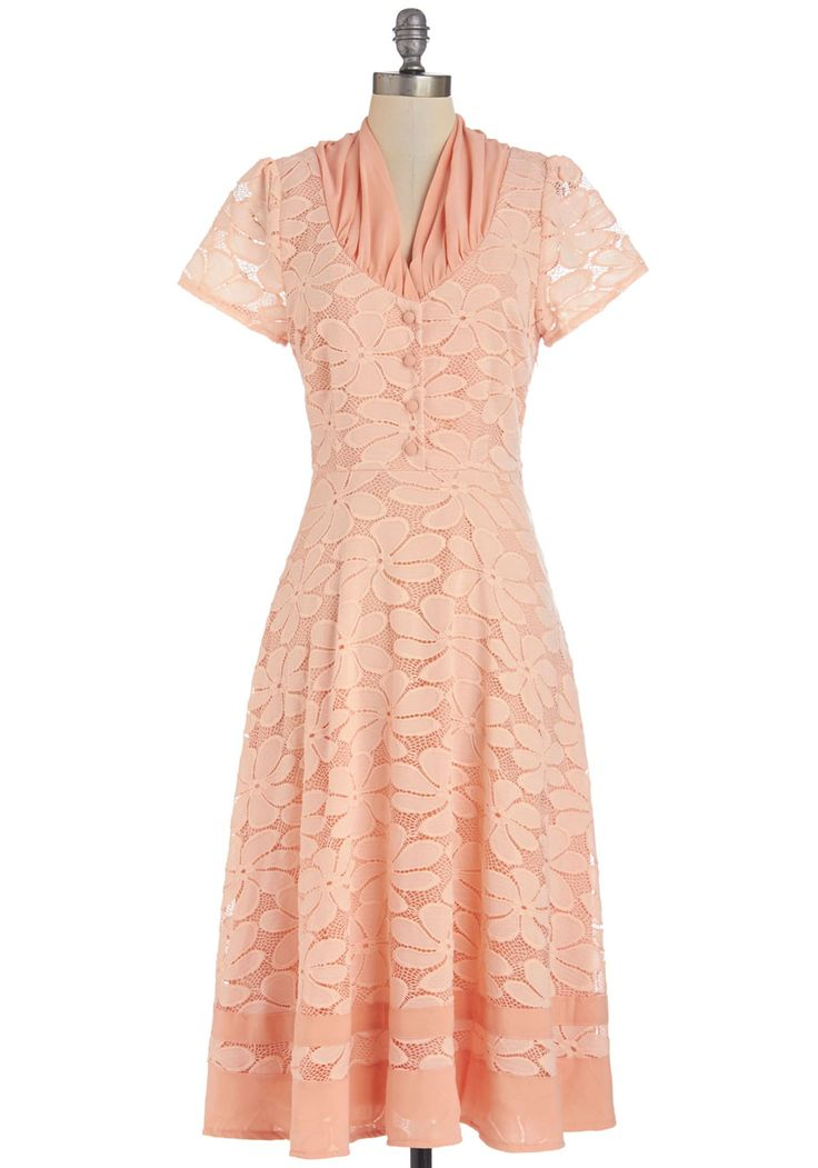Sorbet Social Dress. Demonstrate your sweet taste in fashion as you mingle and marvel frozen treats in this vintage-inspired dress! #pink #modcloth