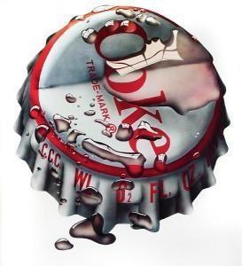 """"""" Coke"""", Michael English Ilustração a aerógrafo. Guache. Década de 1970."""