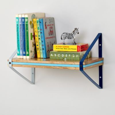 Tricolor Wall Shelf (Blue)  | The Land of Nod