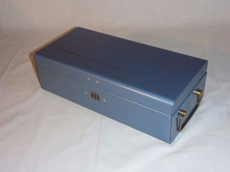 VIntage Durham Policy Box Strongbox Safe Deposit Guardian Life Insurance #Durham